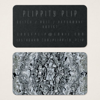 Schwarze Mercury-Soul-Geschäfts-Karte Visitenkarten