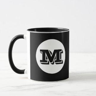 Schwarze Monogramm-Gewohnheit Druckkaffee-Tasse Tasse