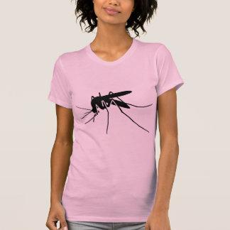 Schwarze Moskito-Seitenansicht-Grafik T-Shirt