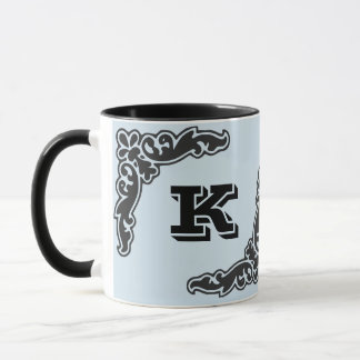 Schwarze mutige Anfangskaffee-Tasse Tasse