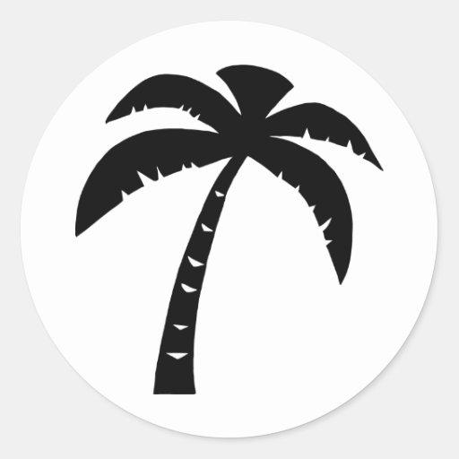 Schwarze Palme Sticker