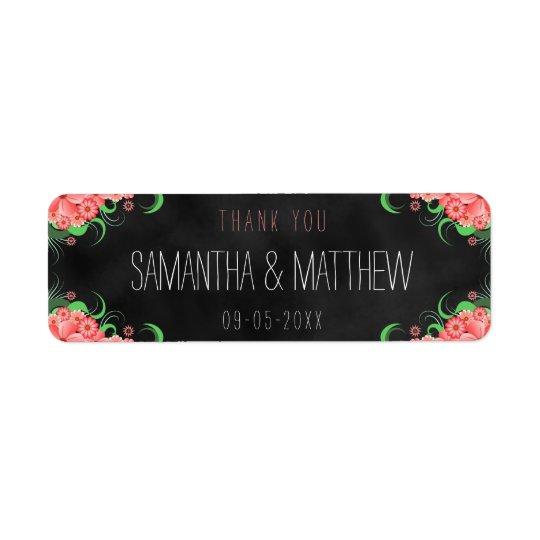 Schwarze rosa Tafel-BlumenGastgeschenk