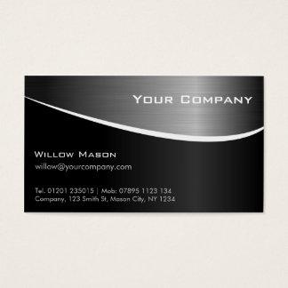 Schwarze rostfreier Stahl-berufliche Visitenkarte