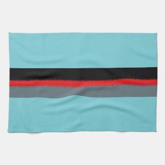 Schwarze rote Türkis-Grau-Streifen Küchentuch