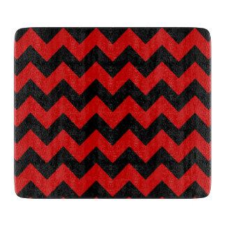 schwarze/rote Zickzack Streifen