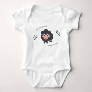 Schwarze Schafe des niedlichen Baby Strampler