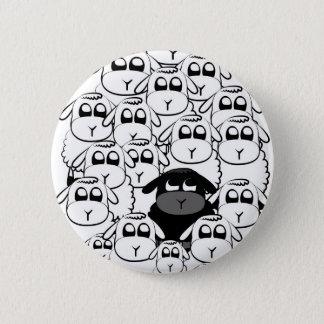 Schwarze Schafe Runder Button 5,1 Cm