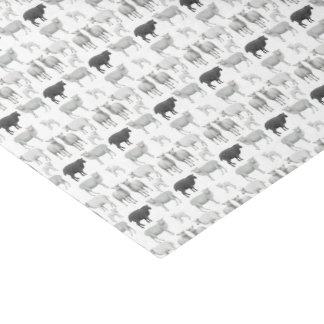 Schwarze Schafe trauen sich, unterschiedliches Seidenpapier