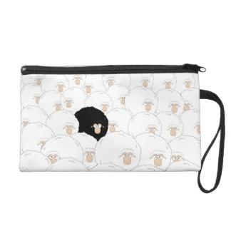 Schwarze Schafe Wristlet Handtasche