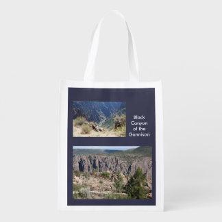 Schwarze Schlucht der Gunnison Schablonen-Tasche Wiederverwendbare Einkaufstaschen