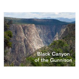 Schwarze Schlucht des Gunnison Nationalparks Postkarte