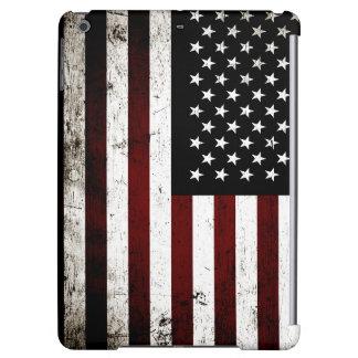 Schwarze Schmutz-amerikanische Flagge