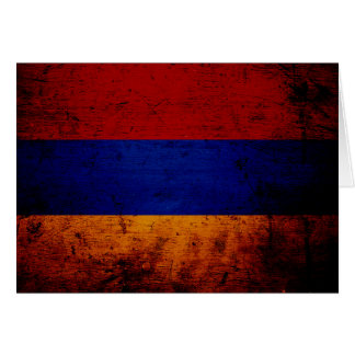 Schwarze Schmutz-Armenien-Flagge Karte