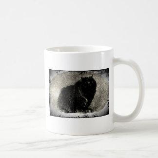 Schwarze Schmutz-Katze Kaffeetasse