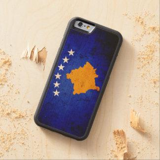 Schwarze Schmutz-Kosovo-Flagge Bumper iPhone 6 Hülle Ahorn