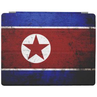 Schwarze Schmutz-Nordkorea-Flagge 1 iPad Hülle