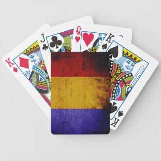 Schwarze Schmutz-Rumänien-Flagge Bicycle Spielkarten