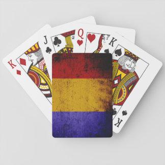 Schwarze Schmutz-Rumänien-Flagge Spielkarten