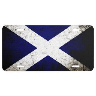 Schwarze Schmutz-Schottland-Flagge 1 US Nummernschild