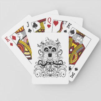 Schwarze Spitze-Eule Spielkarten