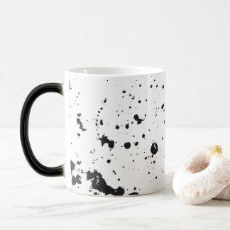 Schwarze Spritzer-Farben-Tasse Verwandlungstasse
