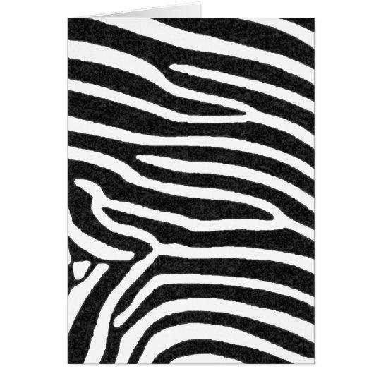 schwarze Streifen des Zebra Grußkarte