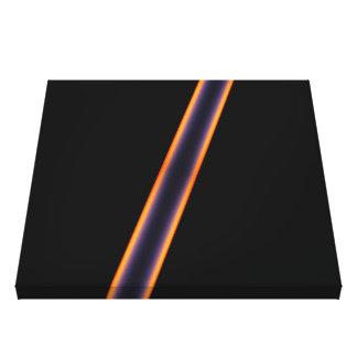 Schwarze Streifen Leinwanddruck
