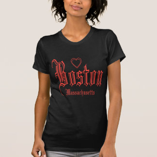 Schwarze T-Shirts Bostons
