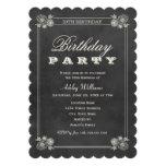 Schwarze Tafel der Geburtstags-Party Einladungs-| Personalisierte Ankündigungen
