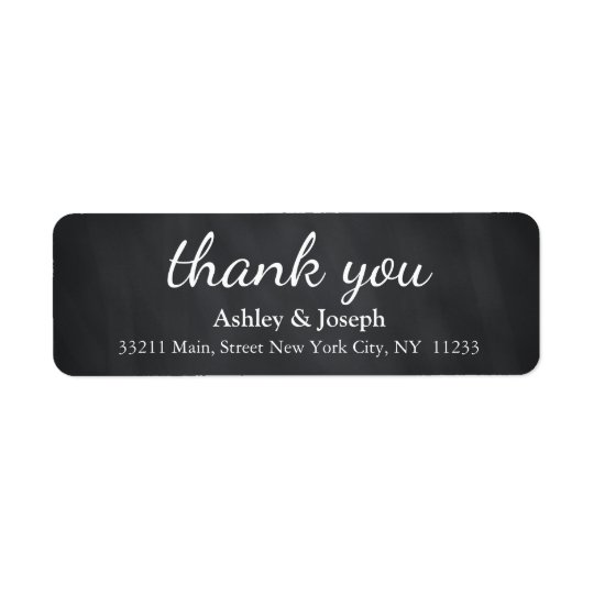 Schwarze Tafel-kundenspezifisches Monogramm danken