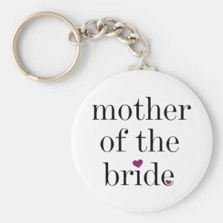 Schwarze Text-Mutter der Braut Keychain Schlüsselanhänger