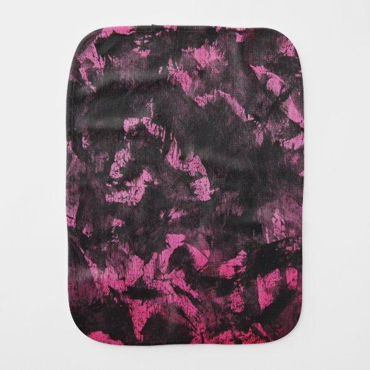 Schwarze Tinte auf rosa Hintergrund Baby Spuchtücher