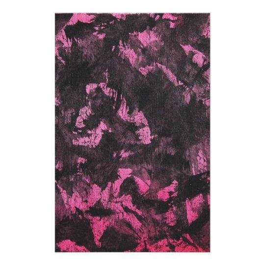 Schwarze Tinte auf rosa Hintergrund Briefpapier