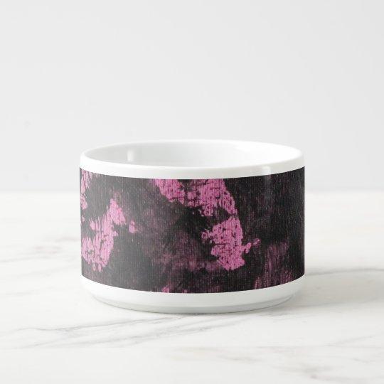 Schwarze Tinte auf rosa Hintergrund Kleine Suppentasse
