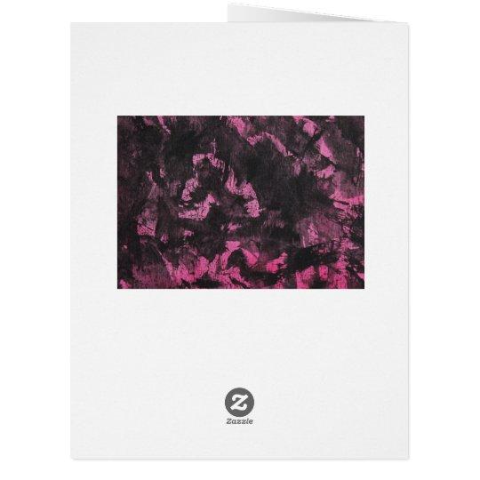 Schwarze Tinte auf rosa Hintergrund Riesige Grußkarte