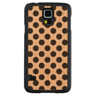 Schwarze Tupfen - Holz-Kasten Samsung-Galaxie-S5