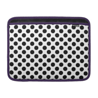 Schwarze Tupfen MacBook Air Sleeve