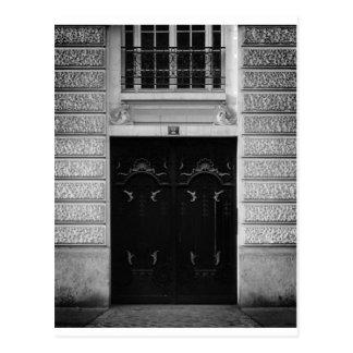 Schwarze Tür-Postkarte Paris Postkarte