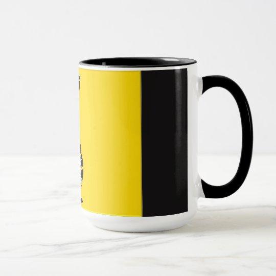 Schwarze u. gelbe Vasen-Tasse Tasse