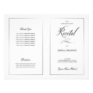 Schwarze u. weiße 21,6 x 27,9 cm flyer