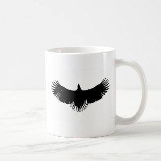 Schwarze u. weiße Adler-Silhouette Kaffeetasse