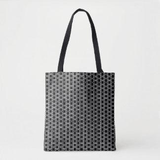 Schwarze u. weiße geometrische tasche