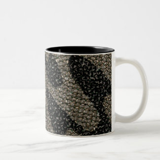 Schwarze u. weiße gewellte Paillette Zweifarbige Tasse