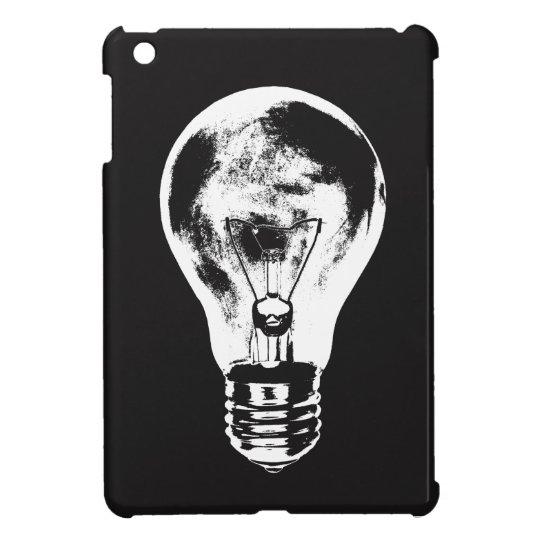 Schwarze u. weiße Glühlampe - Fall iPad Mini Hülle