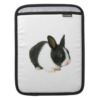 Schwarze u. weiße Häschen-Kaninchen-Rickshaw-Hülse Sleeve Für iPads