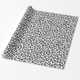 Schwarze u. weiße Leopard-Druck-Tierhaut-Muster Einpackpapier