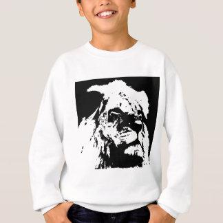 Schwarze u. weiße Löwe-Popkunst Sweatshirt