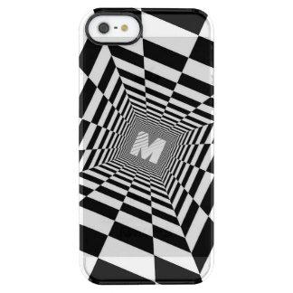 Schwarze u. weiße optische Täuschung, weißes Durchsichtige iPhone SE/5/5s Hülle