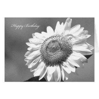 Schwarze u. weiße Sonnenblume-Karte für ihren Karte
