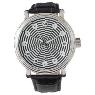 Schwarze u. weiße Strahlung (römisch) durch Uhr